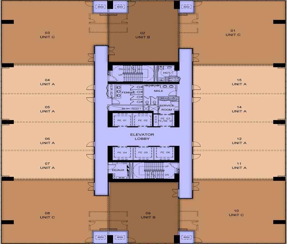 Capital House  - 9th - 24th Floor Plan