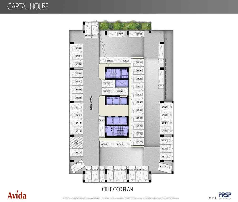 Capital House  - 6th Floor Plan