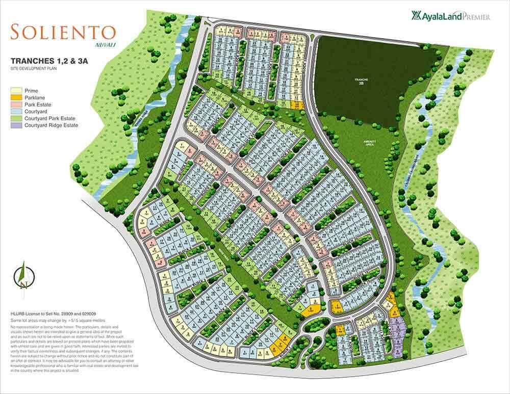 Soliento Nuvali -  Site Development Plan