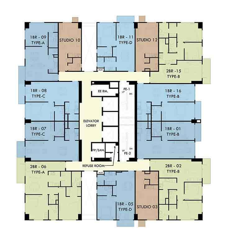 Abreeza Residences - Typical Floor Plan