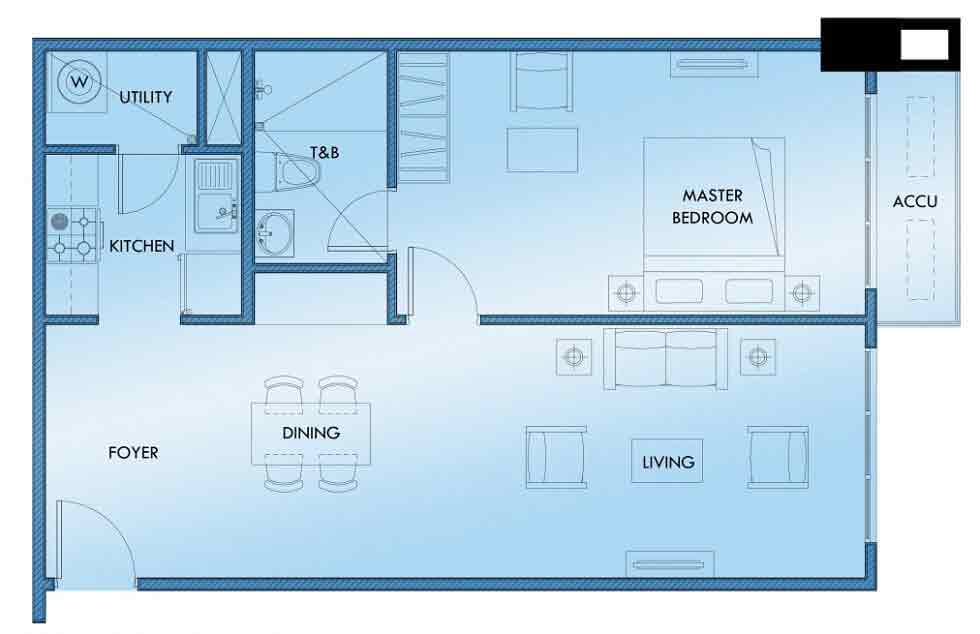 Abreeza Residences - 1 Bedroom Unit