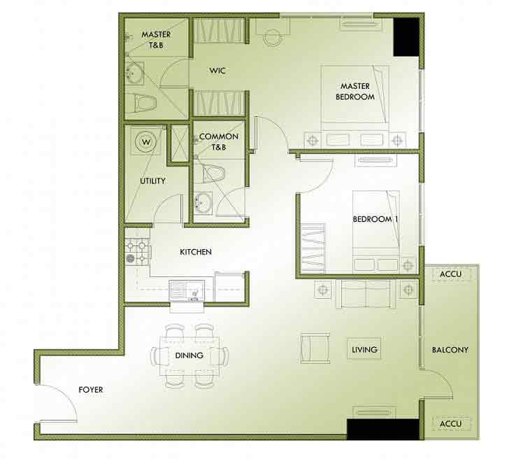 Abreeza Residences - 2 Bedroom Unit