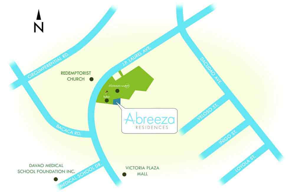 Abreeza Residences - Location & Vicinity
