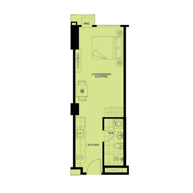 Patio Suites Abreeza - Studio Unit