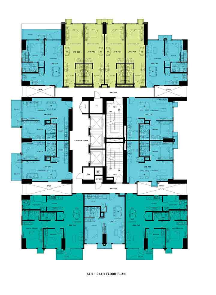 Patio Suites Abreeza - Floor Plan - 6th - 24th Floor