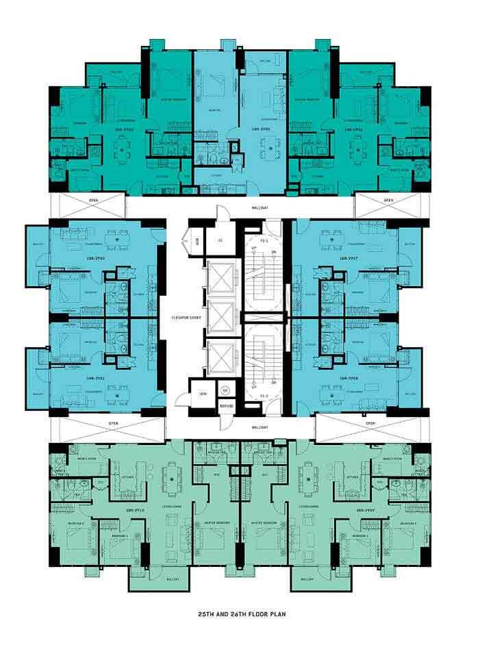 Patio Suites Abreeza - Floor Plan - 25th and 26th Floor