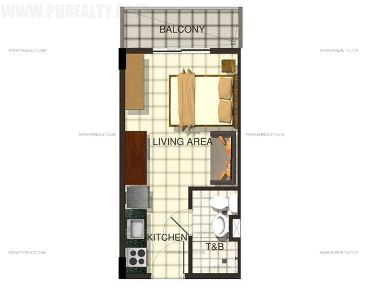 Cerritos Residences - Studio Unit