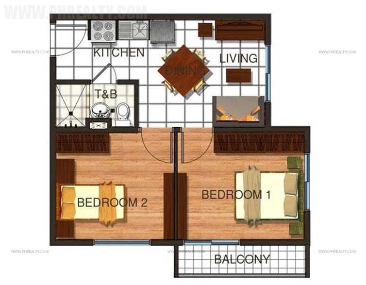 Cerritos Residences - Two Bedroom Unit