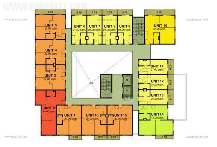 Cerritos Residences - Typical Floor Plan