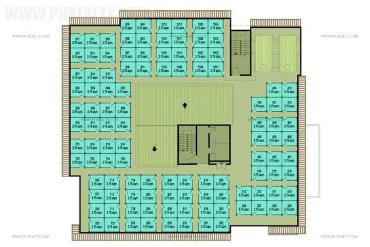 Cerritos Residences - Roofdeck Floor Plan