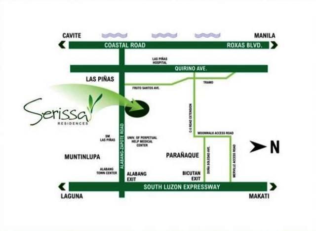 Serissa Residences - Location Map