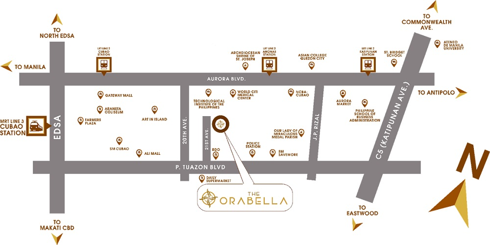 The Orabella - Location Map