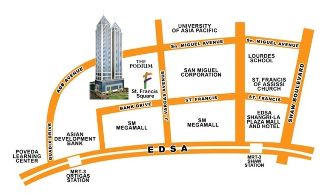 BSA Twin Towers - Location Map