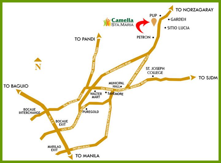 Camella Sta. Maria - Location Map