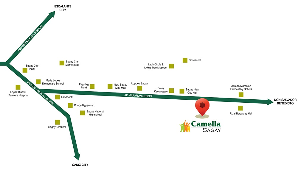 Camella Sagay - Location & Vicinity
