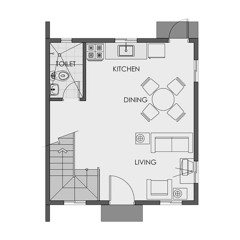 Camella Sagay - Ground Floor Plan