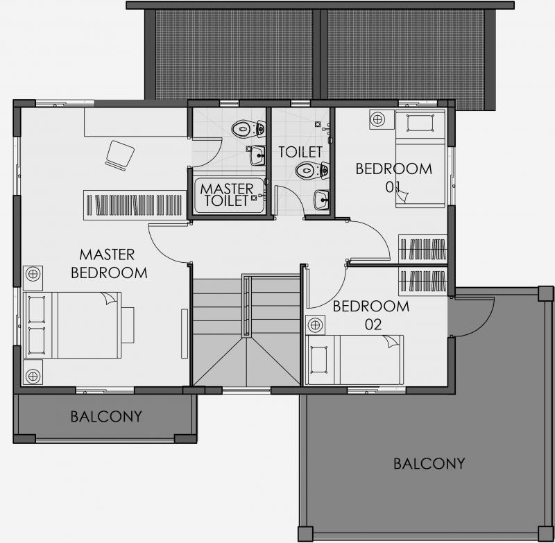 Camella Sagay - Second Floor Plan