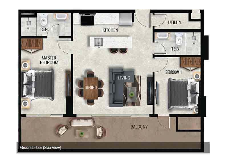 Air Residences - Ground Floor - Sea View