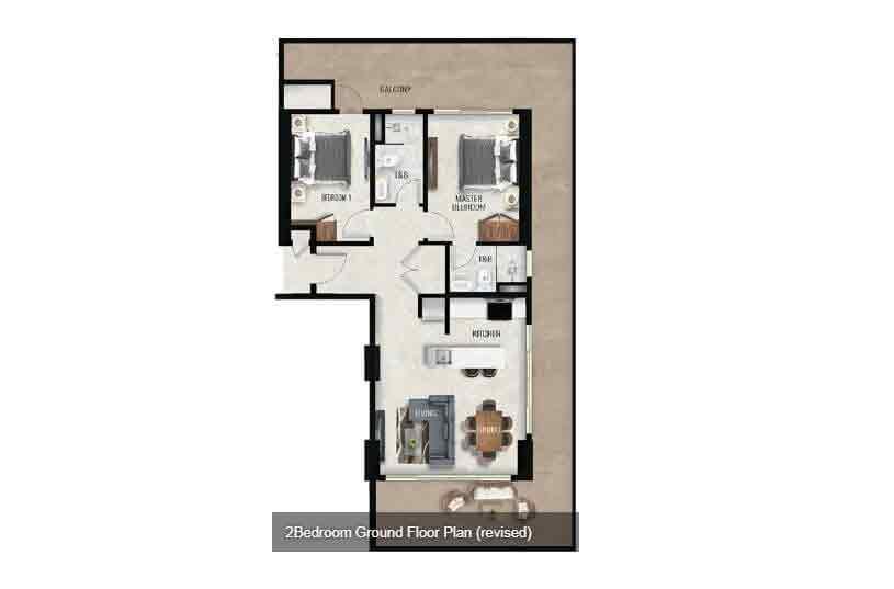 Air Residences - 2 Bedroom - Ground Floor