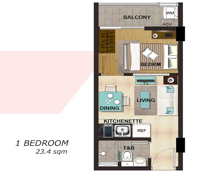 588 Residences - 1 Bedroom Unit
