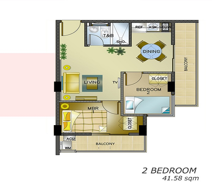 588 Residences - 2 Bedroom Unit