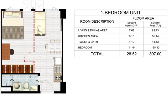 Park Residences - 1 Bedroom Unit