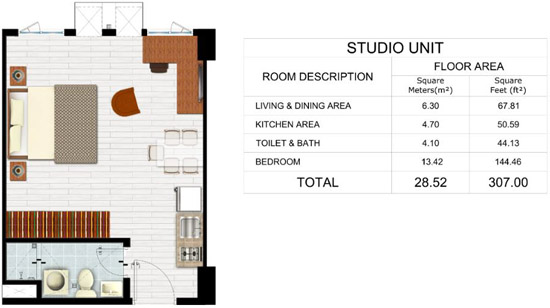 Park Residences - Studio Unit