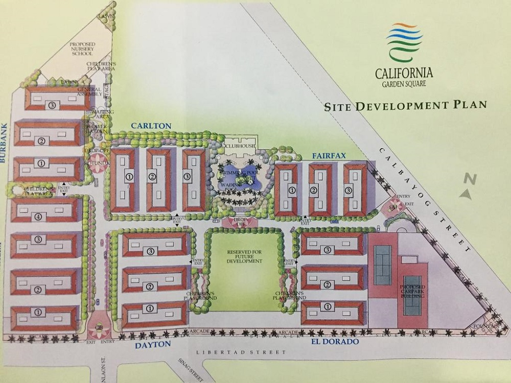 California Garden Square - Site Development Plan