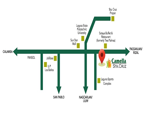 Camella Sta. Cruz - Location Map