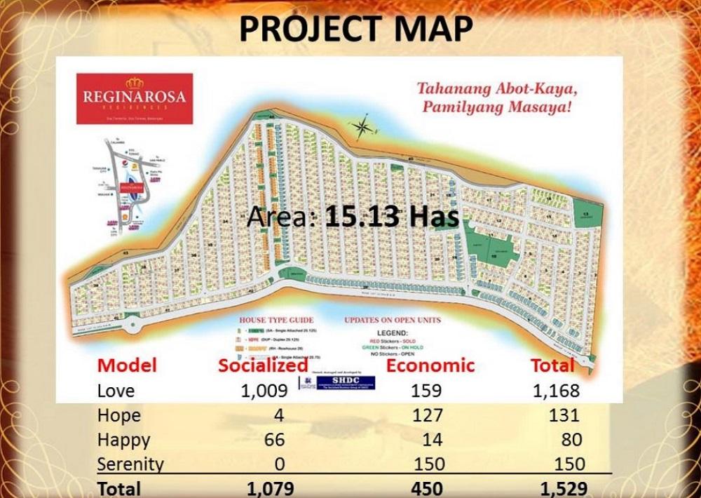 Regina Rosa Residences - Project Map