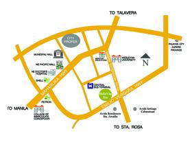 BellaVita Cabanatuan - Location Map