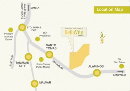 BellaVita Alaminos - Location Map