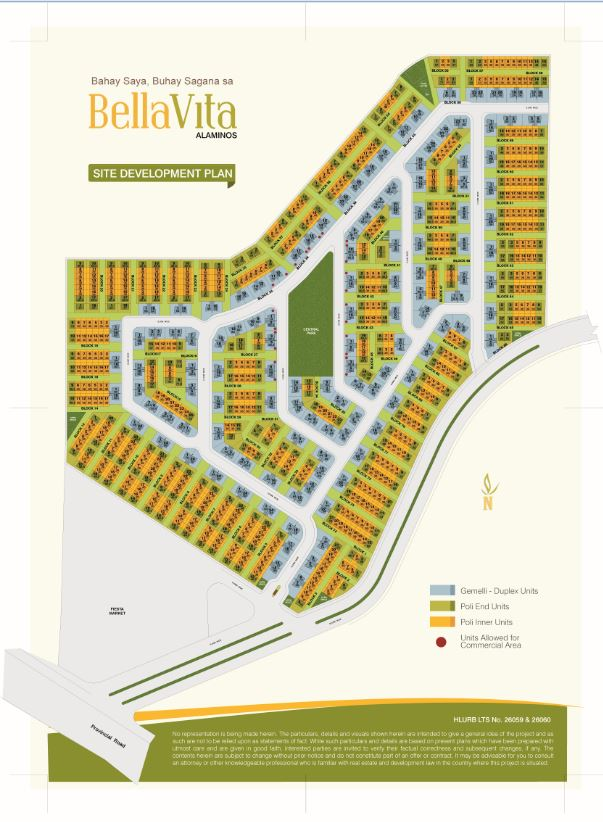 BellaVita Alaminos - Site Development Plan