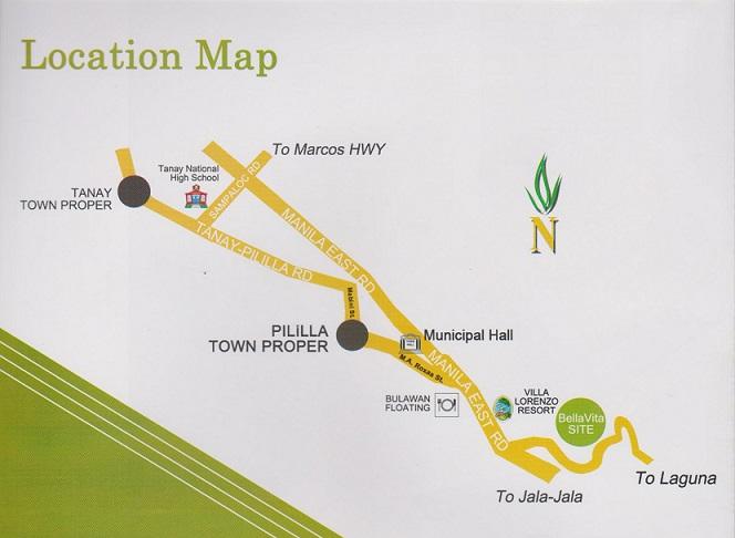 Bellavita Pililia - Location Map