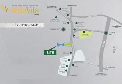 BellaVita Capas Tarlac - Location & Vicinity