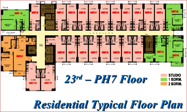 8 Adriatico - Residential Typical Floor Plan