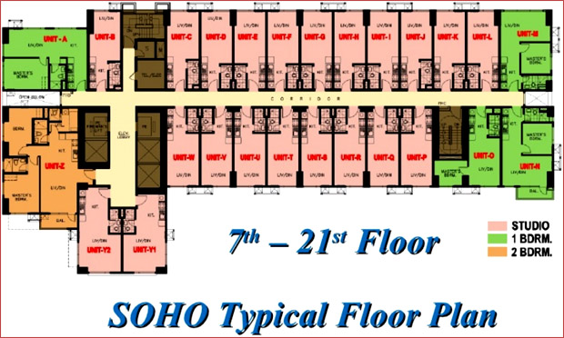 8 Adriatico - SOHO Typical Floor Plan