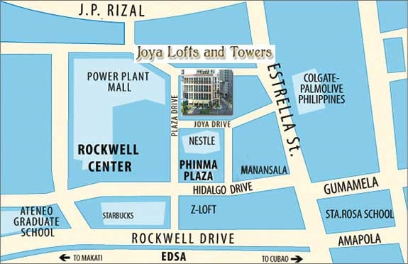 Joya Lofts and Towers - Location Map