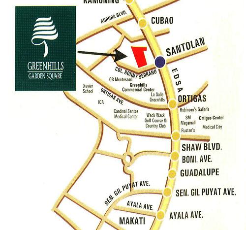 Greenhills Garden Square - Location Map