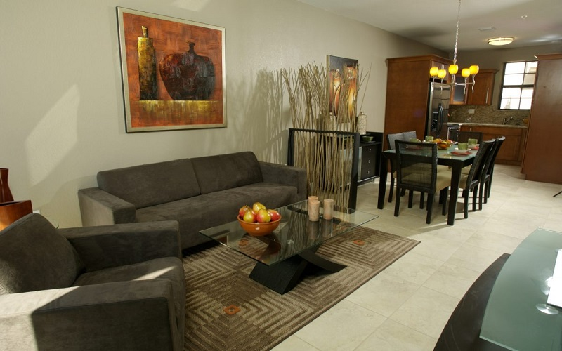 Ibiza Townhomes - Living & Dining Area