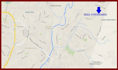 Ibiza Townhomes - Location Map