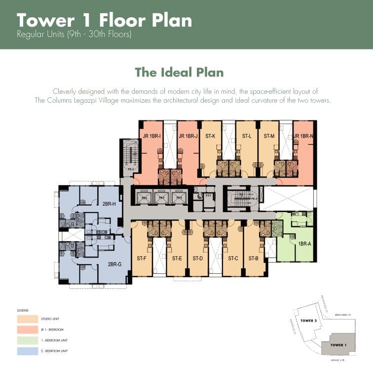 The Columns Legazpi Village - Typical Floor Plan