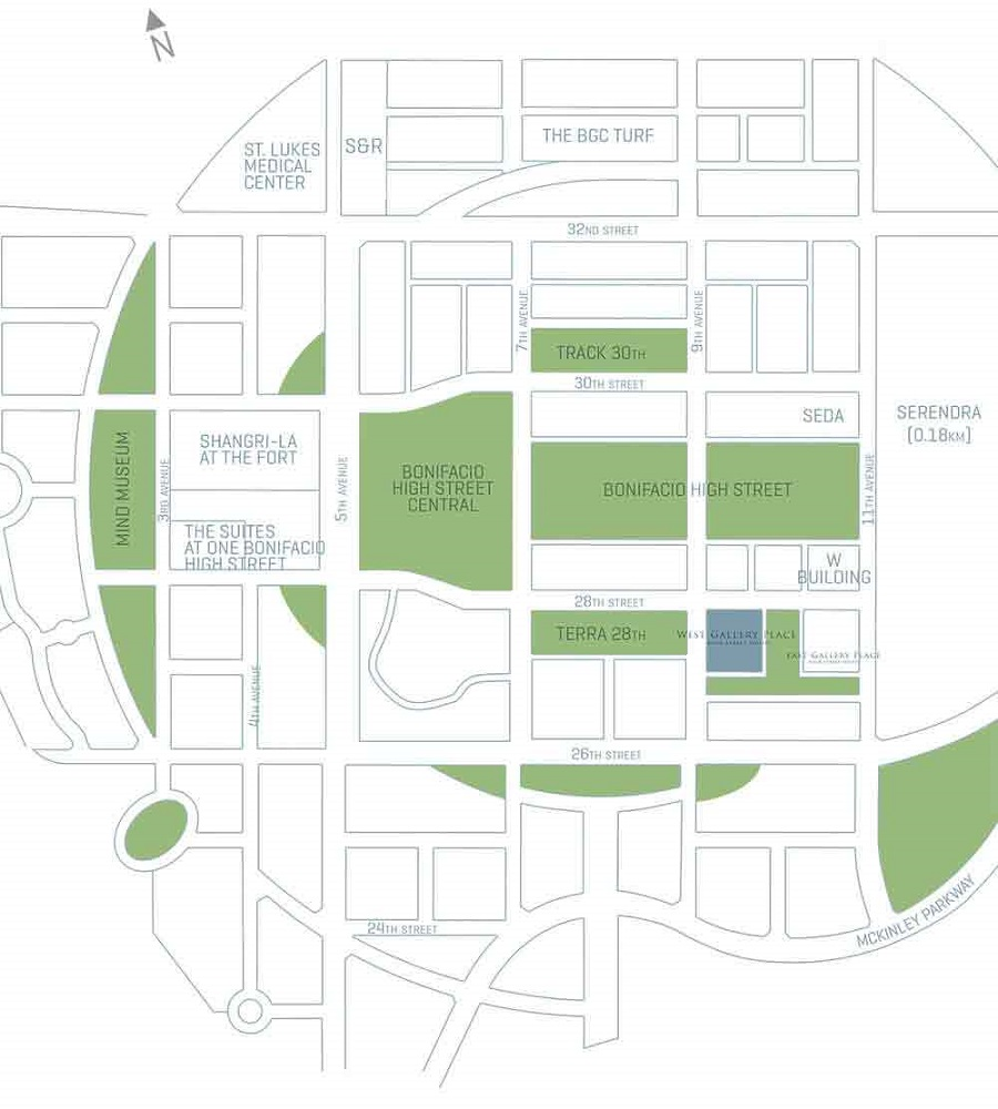 West Gallery Place - Location Map