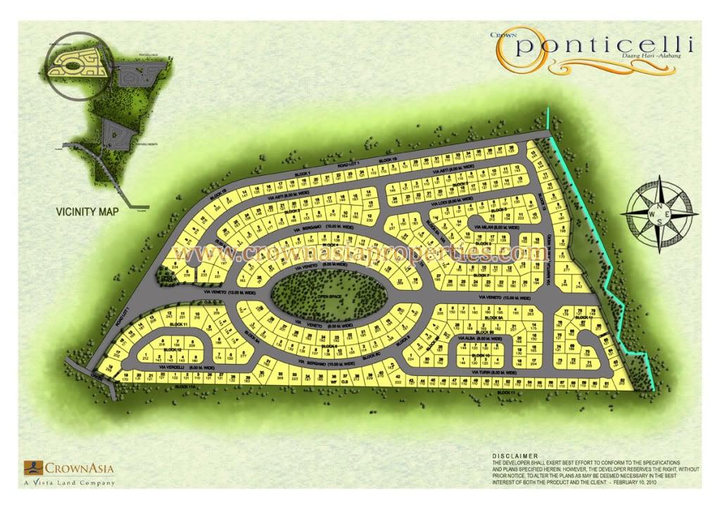 Ponticelli Subdivision - Site Development Plan- Phase 1