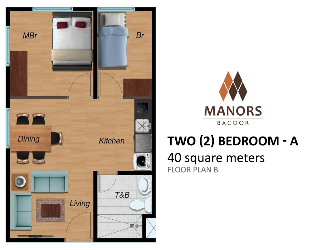 Manors Bacoor - Two Bedroom - A