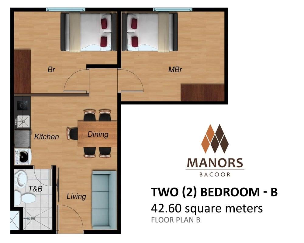 Manors Bacoor - Two Bedroom - B
