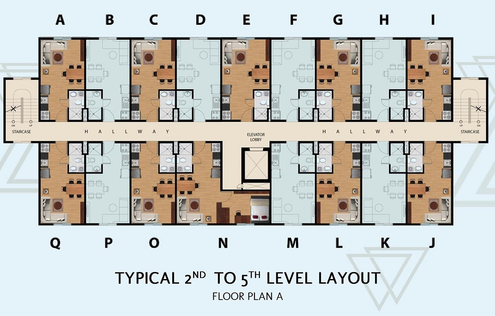 Manors Bacoor - Typical 2nd to 5th Level Layout