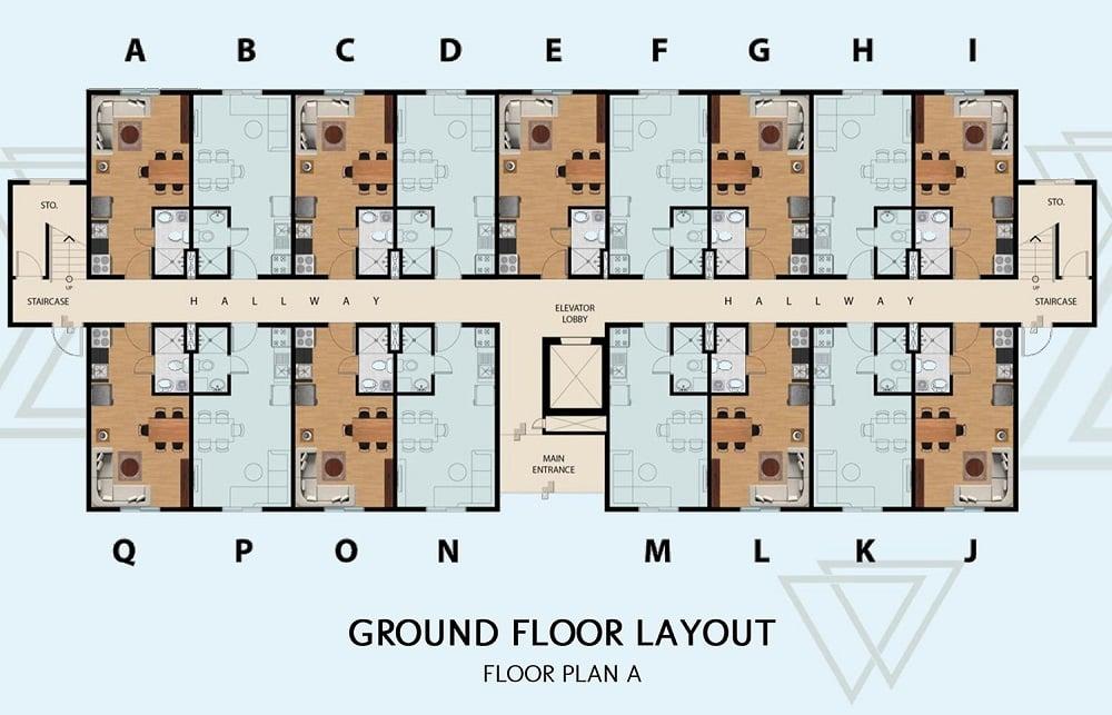 Manors Bacoor - Ground Floor Layout