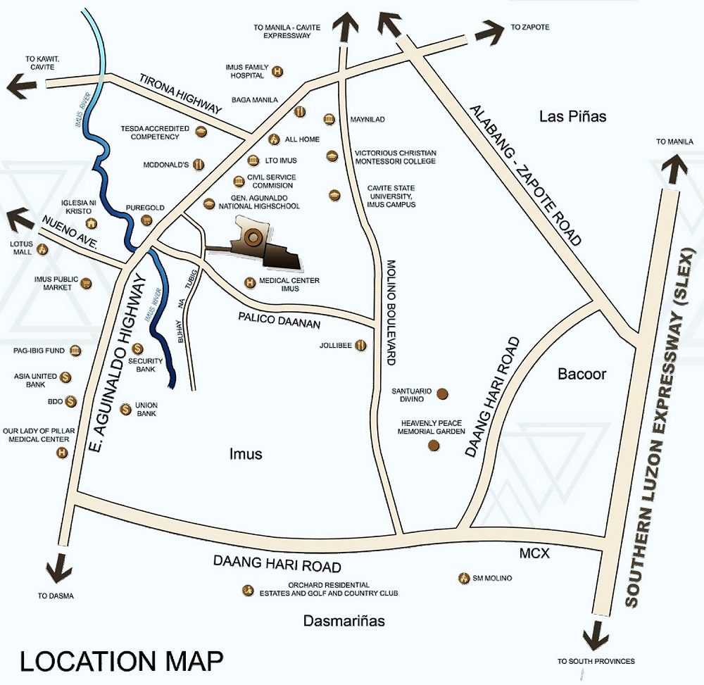 Manors Bacoor - Location Map