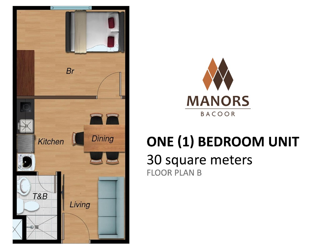 Manors Bacoor - One Bedroom Unit